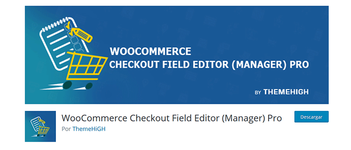 Plugin Woocommerce checkout editor manager