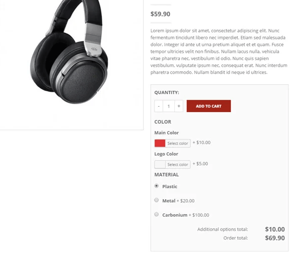 producto personalizado woocommerce
